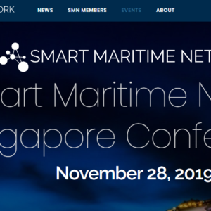Smart Maritime Network Singapore Conference on Thu 28-Nov-2019 at Marina Mandarin Hotel