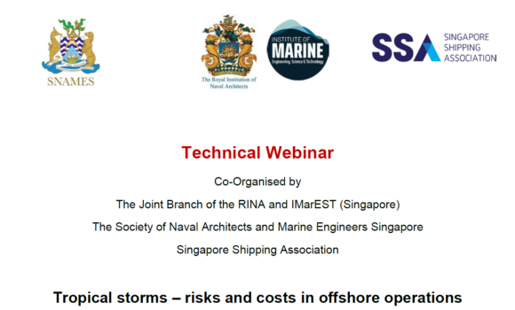 Webinar on Tropical storms – risks and costs in offshore operations