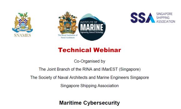 Webinar on Maritime Cybersecurity
