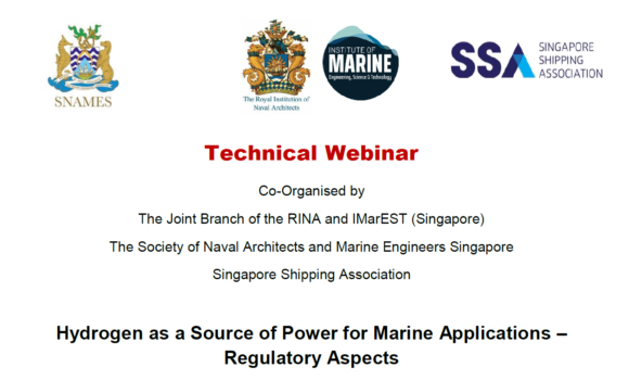 Webinar on Hydrogen as a Source of Power for Marine Applications – Regulatory Aspects