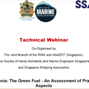 Webinar on Ammonia: The Green Fuel – An Assessment of Practical Aspects