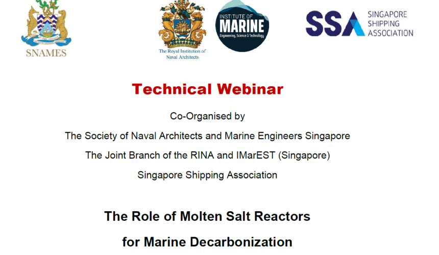 Webinar on The Role of Molten Salt Reactors for Marine Decarbonization