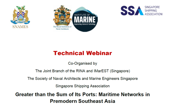 Webinar on Greater than the Sum of Its Ports: Maritime Networks in Premodern Southeast Asia