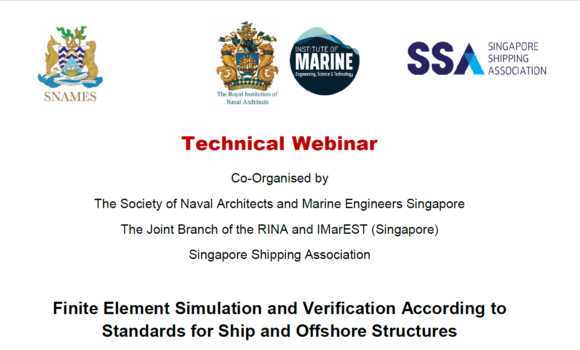 Webinar on Finite Element Simulation and Verification According to Standards for Ship and Offshore Structures
