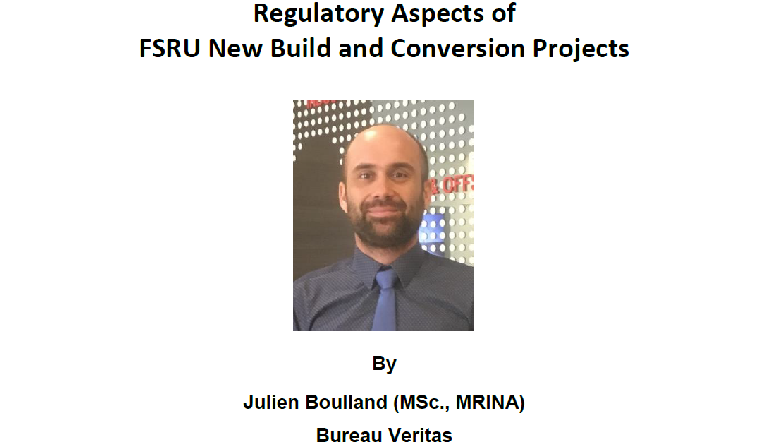 Technical Talk on 23 Apr 2019 – Regulatory Aspects of FSRU New Build and Conversion Projects