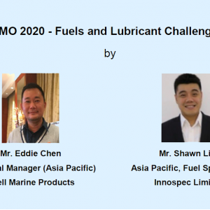 Technical Talk on 24 May 2019 – IMO 2020 – Fuels and Lubricant Challenges