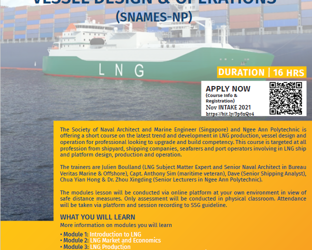 4th Primer Course on LNG Production, Vessel Design & Operations (SNAMES – NP)