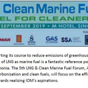 LNG Marine Fuel Program 2019 on 12th & 13th-Sep-2019 ( Thursday and Friday ) at M Hotel