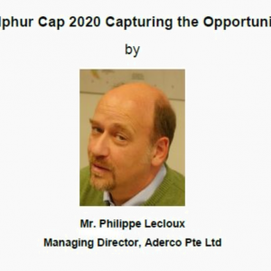 Technical Talk on 17 Jul 2018 – Sulphur Cap 2020 Capturing the Opportunity