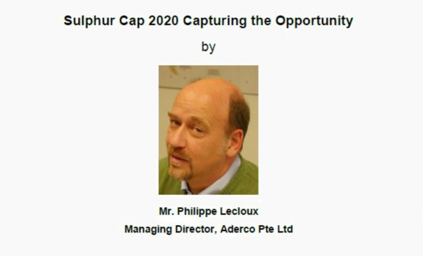 Sulphur Cap 2020 Capturing the Opportunity (17 July 2018)