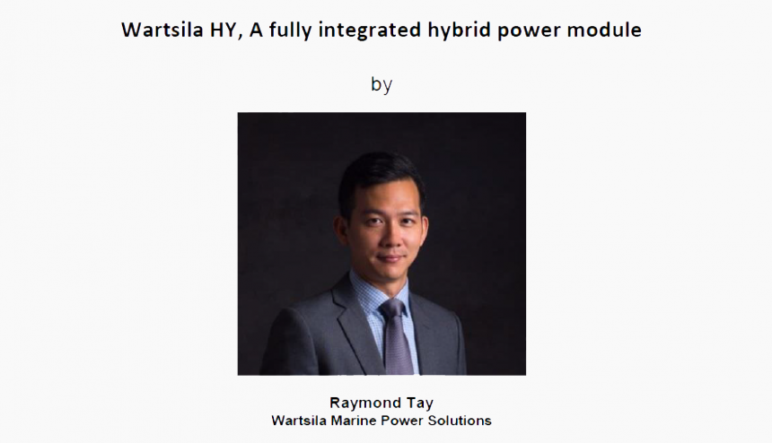 Technical Talk on 16 Aug 2018 – Wartsila HY, A fully Integrated hybrid Power