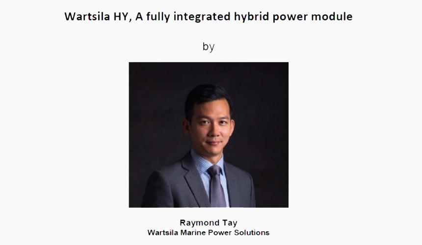 Technical Talk on 16 Aug 2018 – Wartsila HY, A fully Integrated hybrid Power